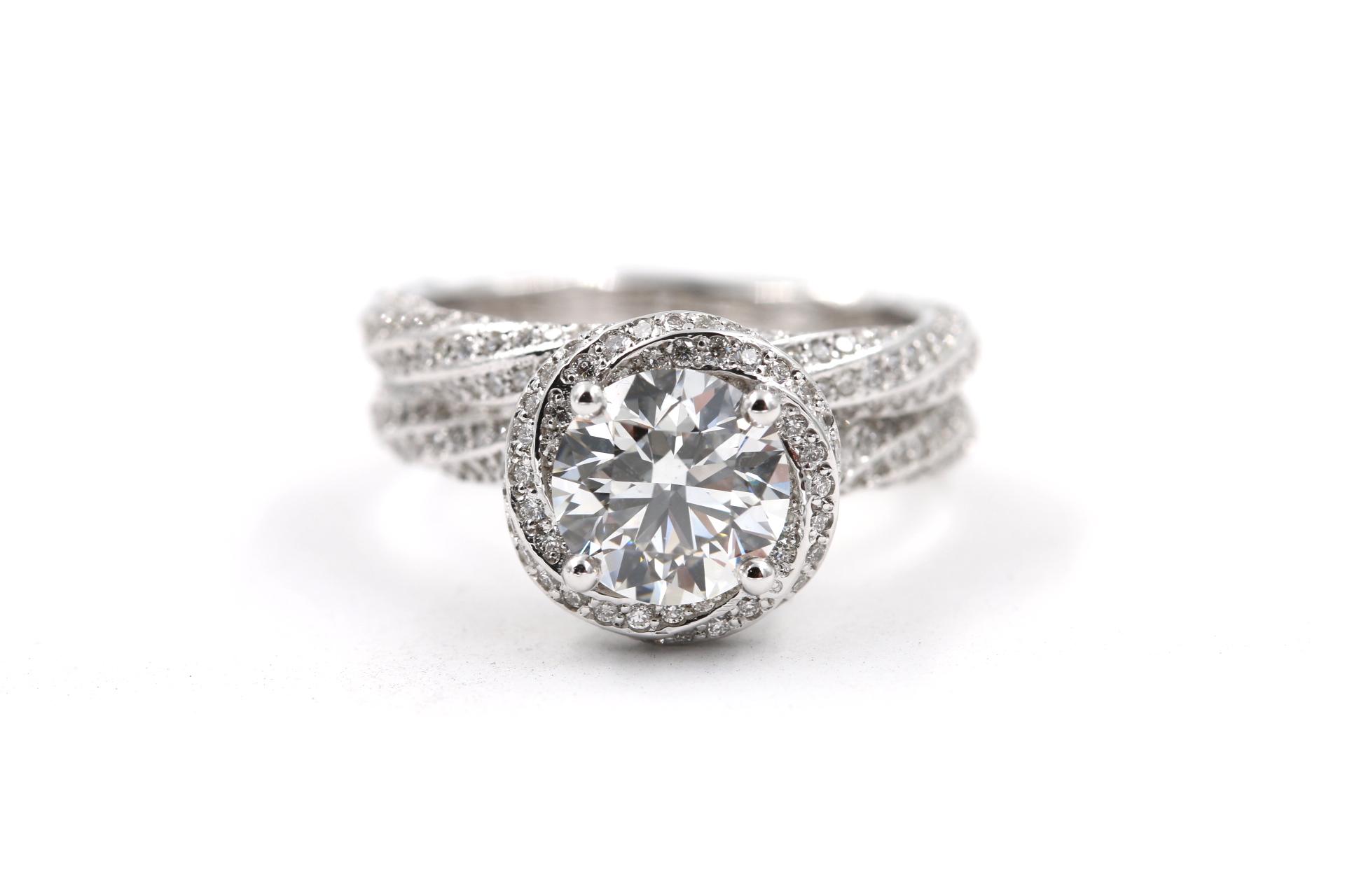 pave custom engagement ring diamonds