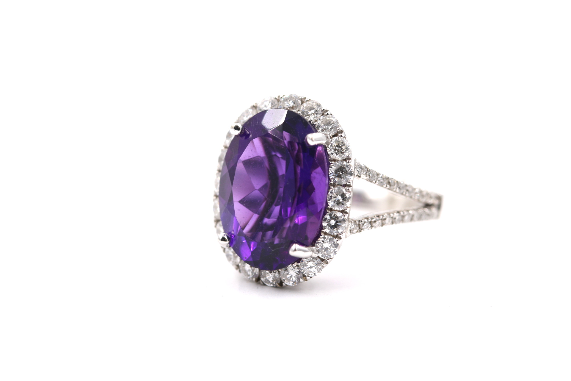 amethyst diamond ring jewelry engagement forever faithful