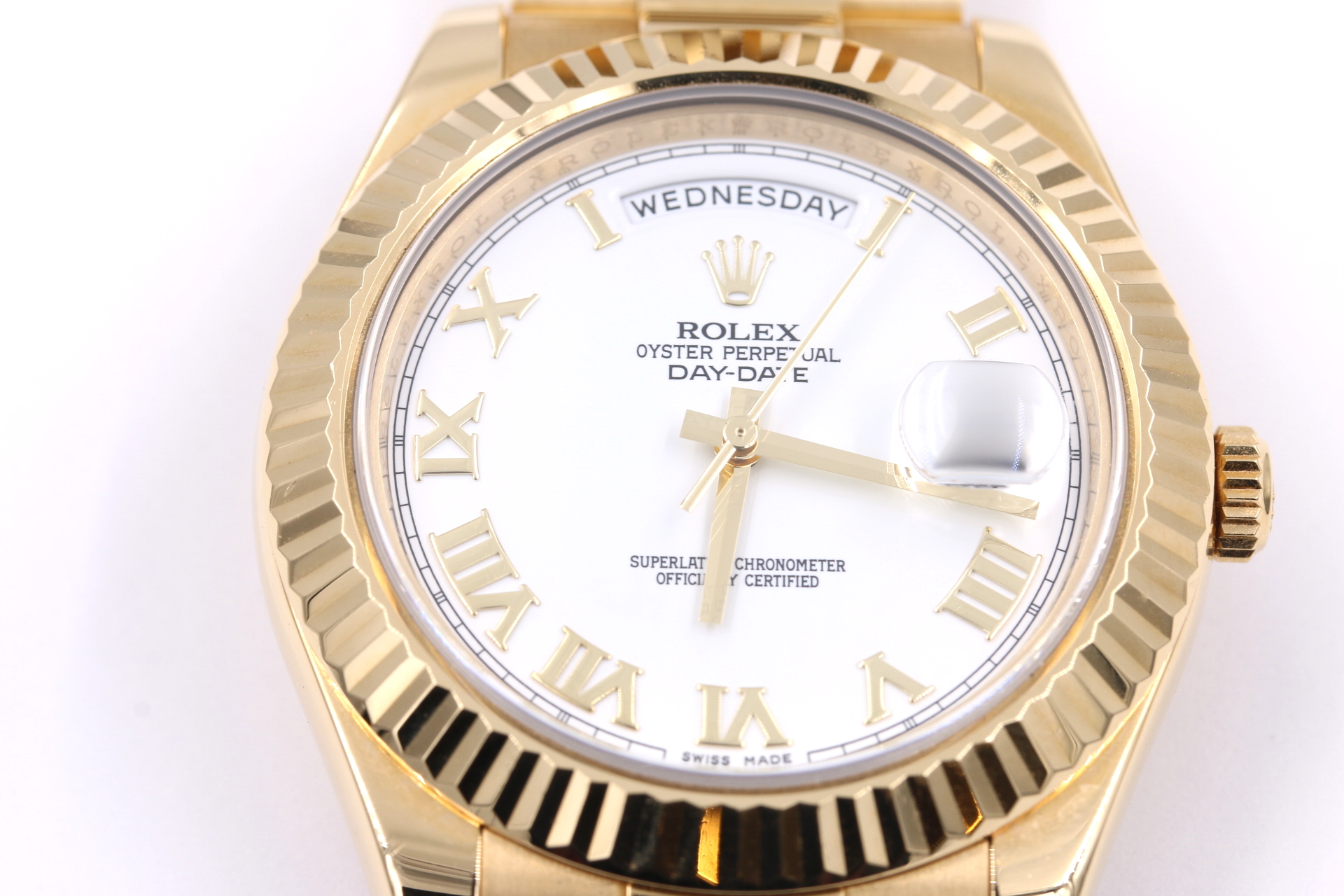 rolex watch broker orange county jeweler white face