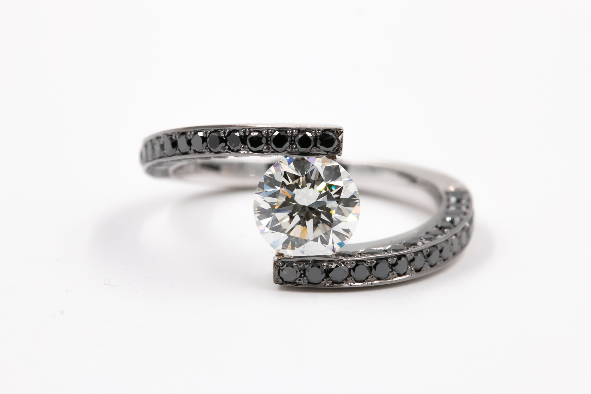 tension-set-engagement-ring-black-white-diamonds